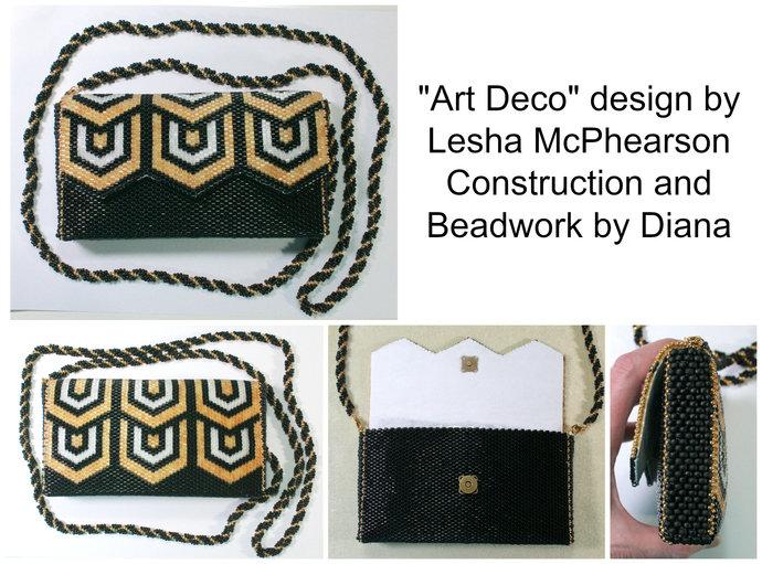 Art Deco Evening Bag - 1 Drop Odd Peyote Bead Pattern - Miyuki Size 8 Delicas