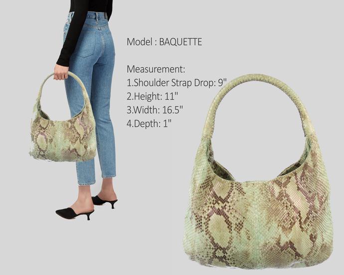 Custom Women Python Leather Handbag