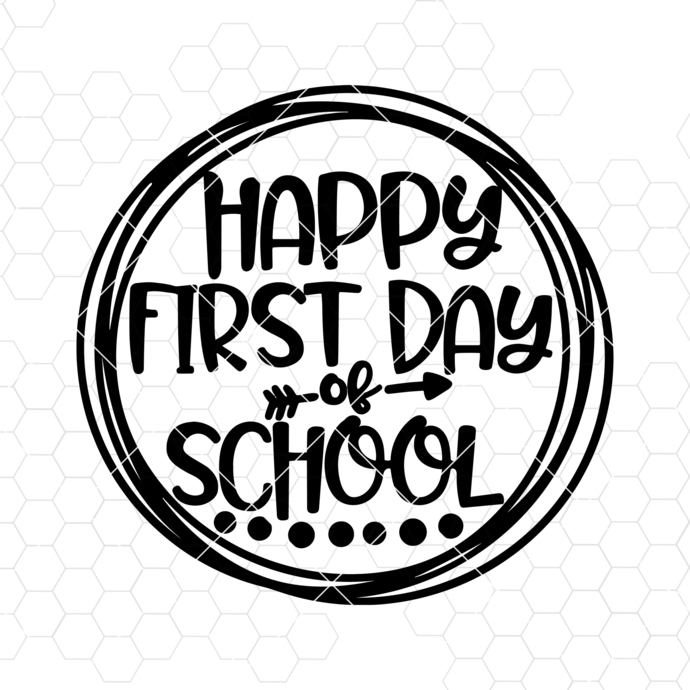 Teacher SVG DXF JPEG Silhouette Cameo Cricut Happy first Day of School svg