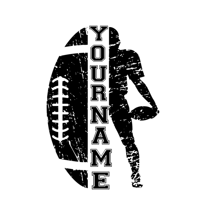Your Name SVG, Football Cut file, Cheer svg, School spirit, Sayings, Football