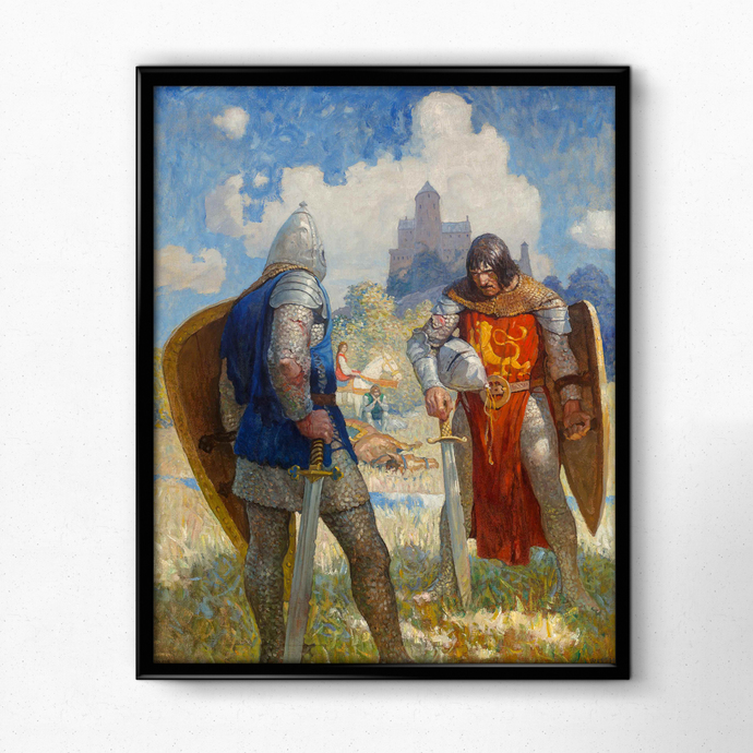 "Knightly Challenge - Art Print - 16"" x 20"" - Custom Sizes Available"