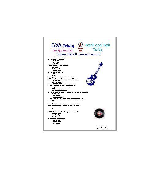 Elvis Trivia and Rock & Roll Trivia