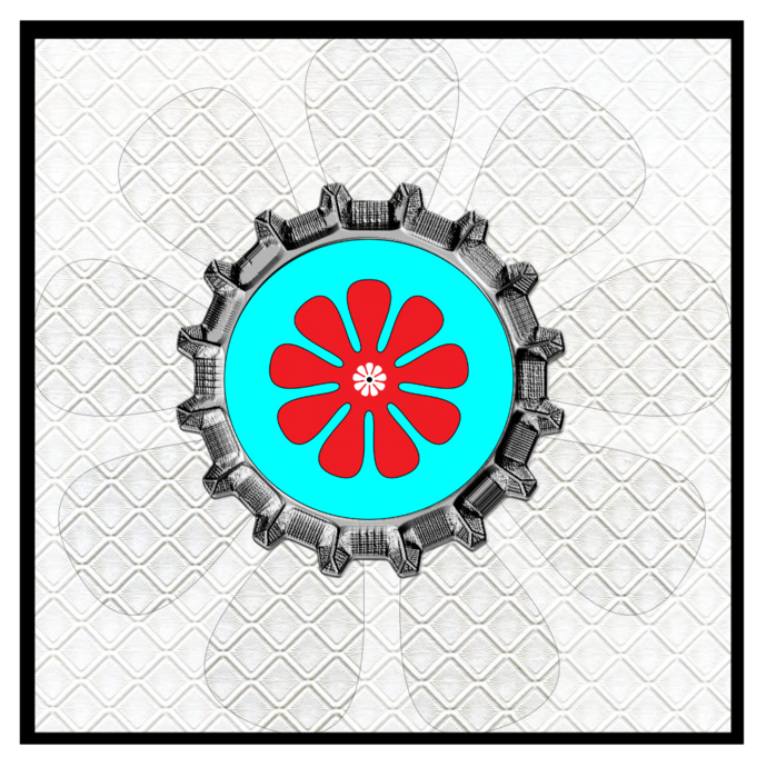 Flower BottleCap-Digital Kit-Jewelry Tag-Clipart-Gift Tag-Holiday-Digital