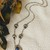 Vintage Native American Navajo Signed Sterling Lapis Lazuli Bear Paw Necklace