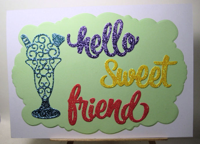 4pc Hello Sweet Friend Cutting Die Set w/ Sundae