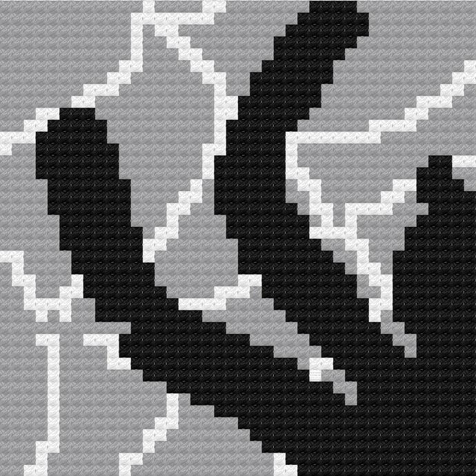 Spider in Web C2C Crochet Pattern PDF Halloween Spiderweb Throw Afghan Graphghan