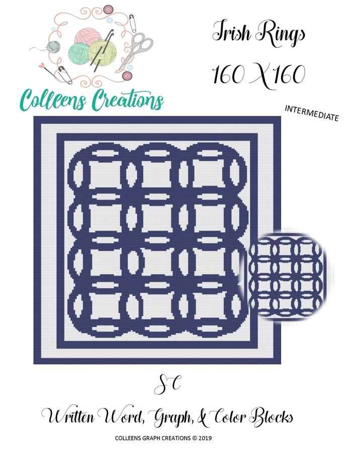 Irish Rings Crochet Written Word, Color Blocks and Graph Design