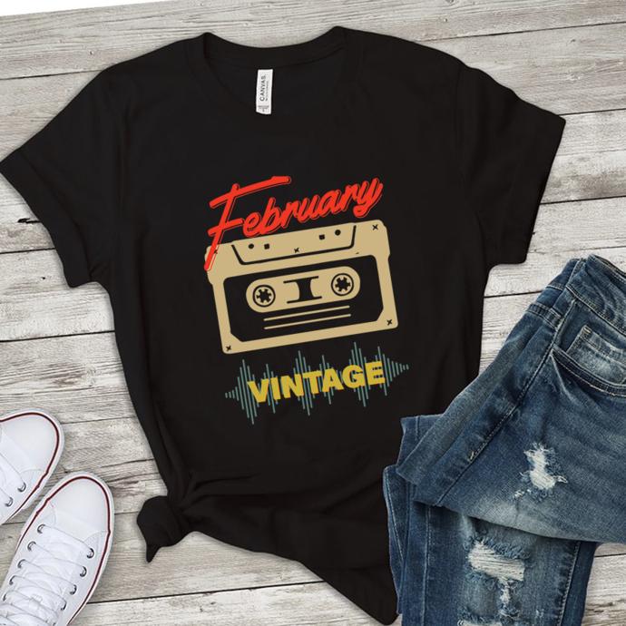February cassette vintage, vintage svg, born in February,birthday svg,birthday
