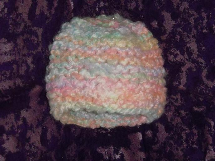 handmade knitted multicolored child hat