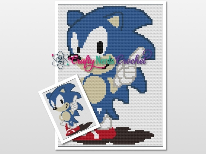 Sonic The Hedgehog Pattern Graph With Mini C2C