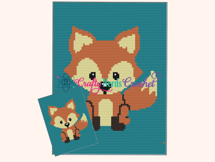 Baby Fox Pattern Graph With Mini C2C Written