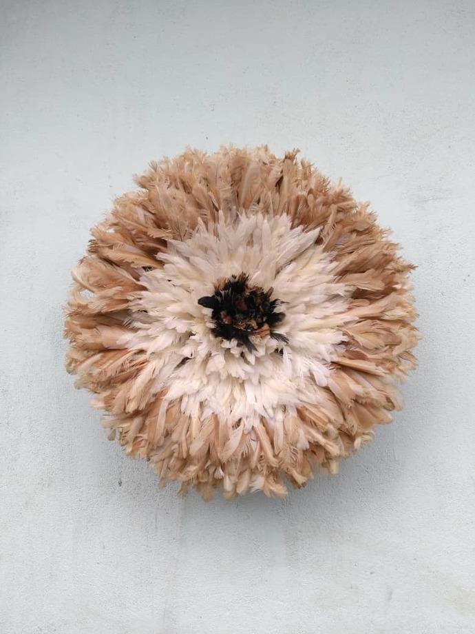 Juju hat interior natural outline white then beige of 60 cm