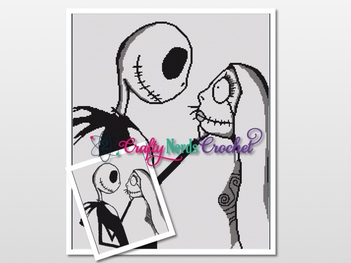 Jack And Sally Wedding  Pattern Graph With Single Crochet Written