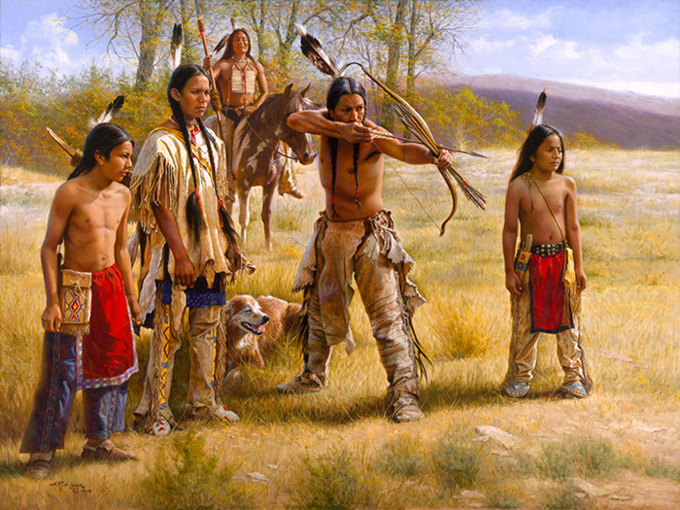 Native American Family Cross Stitch Pattern***LOOK*** ***INSTANT DOWNLOAD***