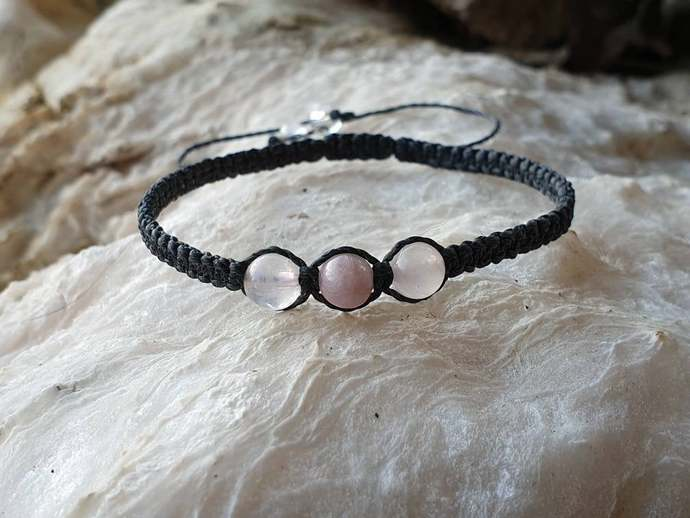 Rose Quartz & Kunzite bracelet | emotional healing ~ stress relief ~ releases