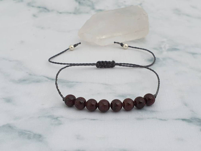 Garnet bracelet | stone of commitment ~ reduce depression ~ removes inhibitions