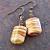 Fancy Mustard Glass Earrings