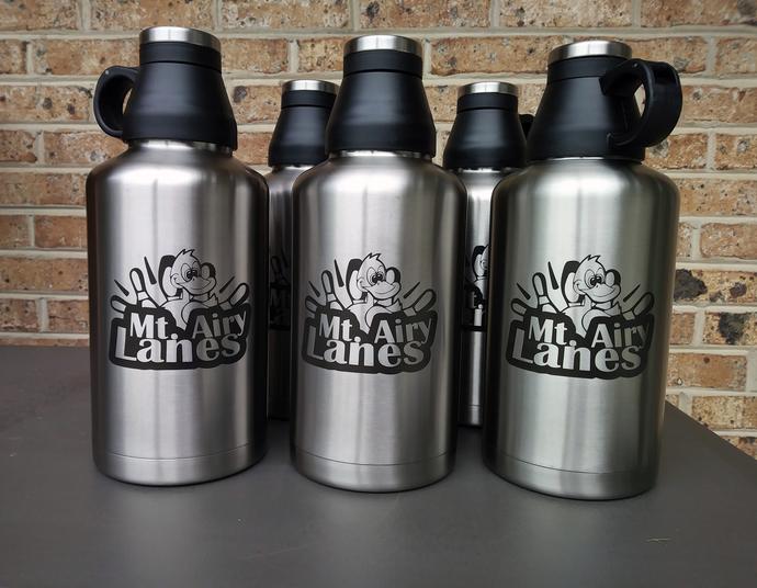 Laser engraved Beer Growlers