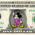 MICKEY MOUSE Disco on a REAL Dollar Disney Cash Bill Money Collectible