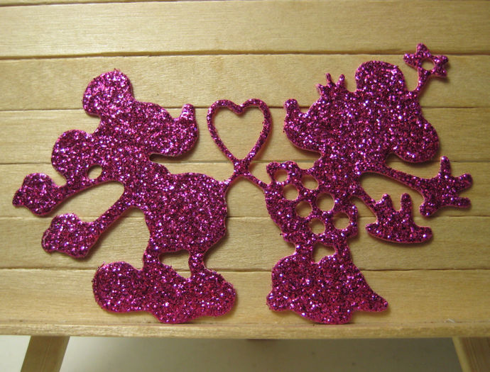 Mickey & Minnie with Heart Tail Metal Cutting Die