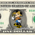 MICKEY MOUSE Vacation on a REAL Dollar Disney Cash Bill Money Collectible