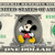 MICKEY MOUSE Whistling on a REAL Dollar Disney Cash Bill Money Collectible