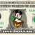 MICKEY MOUSE Student on a REAL Dollar Disney Cash Bill Money Collectible