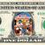 MICKEY MOUSE Christmas Carol  on a REAL Dollar Disney Cash Bill Money