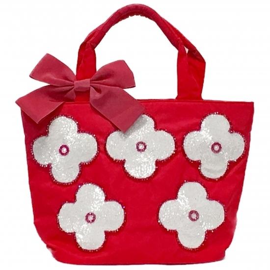 Pink beaded bag, Hand embroidery Toe, Bridal flower bag, Designer Cosmetics Bag,