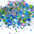 Flutterby Fiesta - Loose Holographic Chunky Glitter Mix In Pink, Blue & Green
