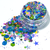Flutterby Fiesta - Loose Holographic Chunky Glitter Mix In Pink, Blue and Green