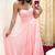 Sexy Sweetheart neck Chiffon Pink Long Prom Dresses, Pink Evening Dress