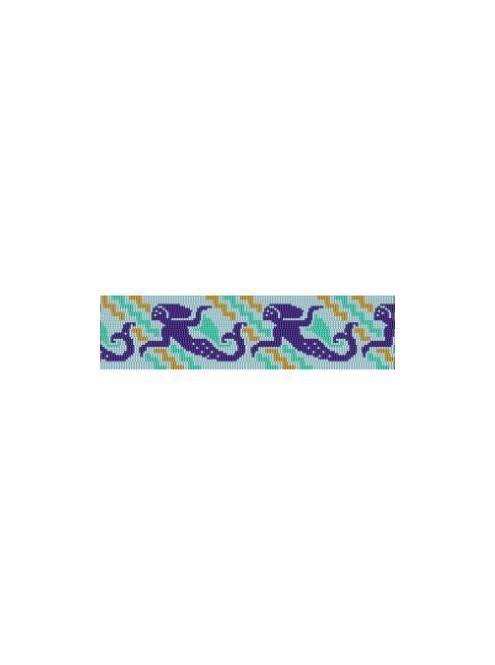 Mermaid Mural Cuff Bracelet - 4 Drop Odd Peyote Bead Pattern