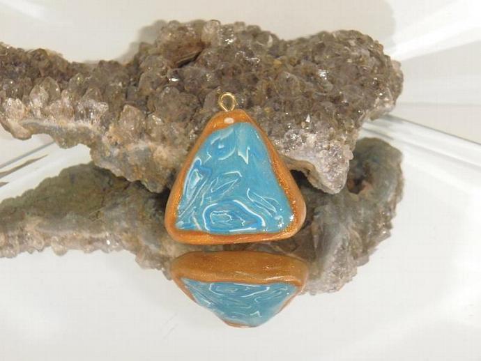 Faux Blue Stone Pendant