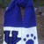 UK Scarf Blue with Paw