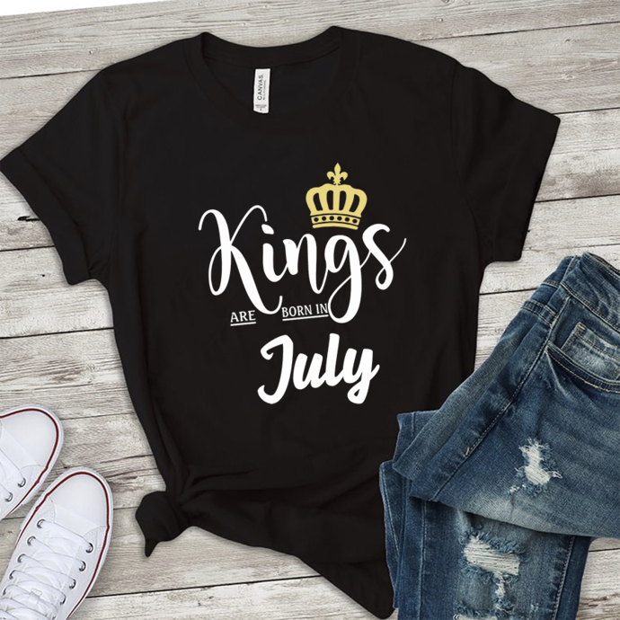 kings are born in july, born in july,july birthday,gift for july, birthday