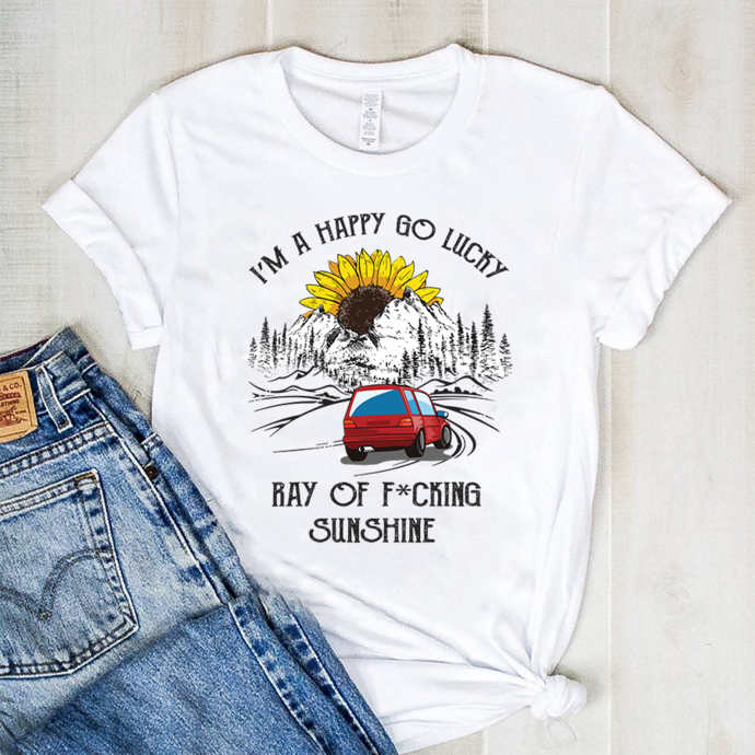 I'm a happy lucky ray of fucking sunshine,camping svg, travel svg, gift for