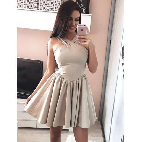 Simple Cheap Halter Lovely On Sale Short Homecoming Dresses, 09
