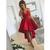 Popular High Low Spaghetti Strap Lace Red Short Homecoming Dresses,15