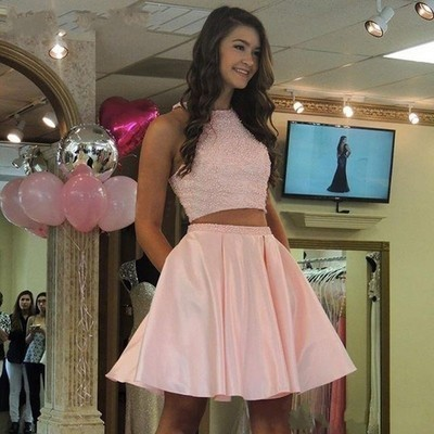 Prom Dress Pink, Homecoming Dresses A-Line, Short Homecoming Dresses, Homecoming