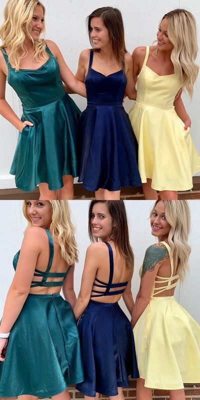 2019 short homecoming dresses with pockets, simple homecoming dresses,32