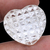Crystal carved High Polished Half Drilled Heart shape Loose Semi Precious