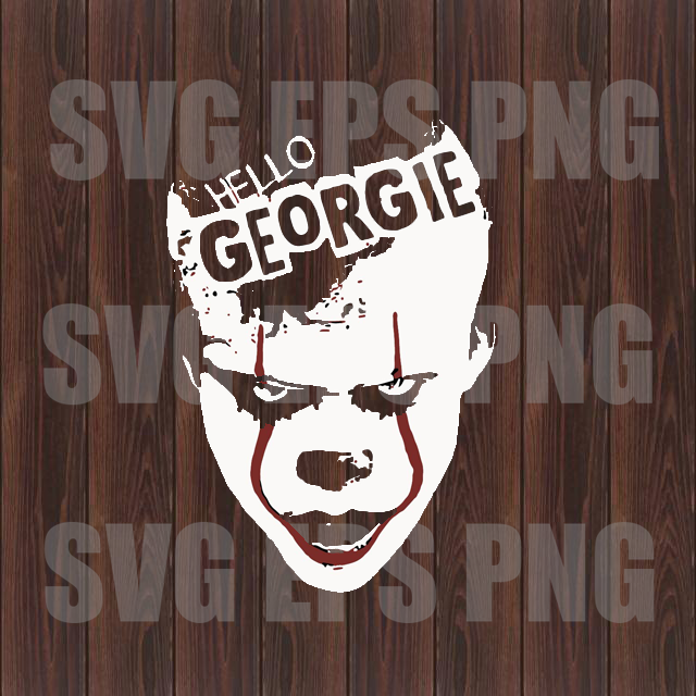 Hello Georgie svg, Pennywise svg, Pennywise clipart, Pennywise Movie svg,