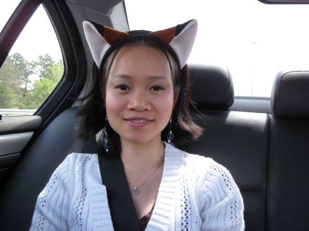 ORANGE FOX EARS headband KITTY CAT cosplay NARUTO