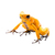 "Yellow Poison Dart Frog Decal - 2.5"" tall x 3.5"" wide"
