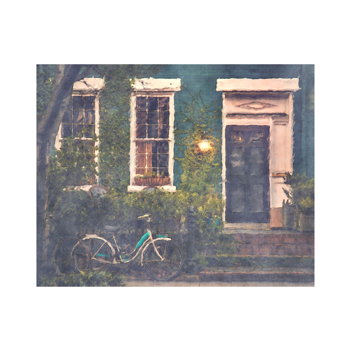 """Quiet Evening At Home - Art Print - 16"""" x 20"""" - Custom Sizes Available"""