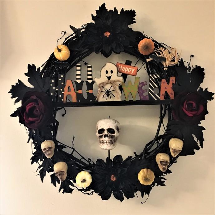 Halloween Wreath or Wall Decoration