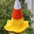 READY TO SHIP Candy Corn Witch Hat - Crochet - Adults / Women