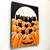 Black Cats in the Pumpkin Patch Original Halloween Cat Folk Art Painting