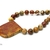 Necklace and earring set, gift under $50 Picasso jasper necklace with large